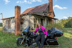 Hot-Pink-Armored-Riding-Shirt-on-Bike