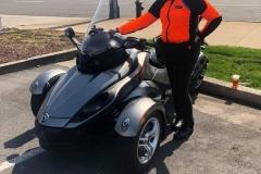 Leslie-Simmons-Orange-Armored-Riding-Shirt