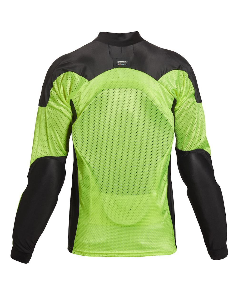 98bdf9e5f88b Bohn Body Armor All Season Airtex Motorcycle Shirt High-Visibility  Yellow-Back