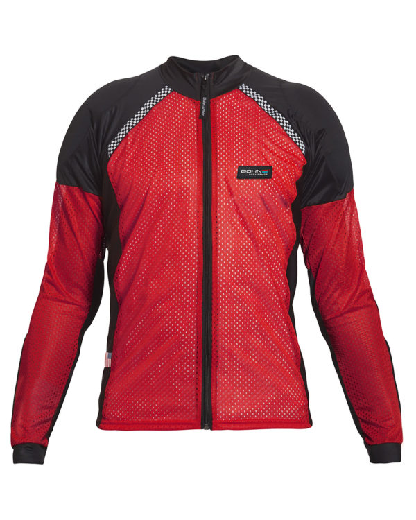 Bohn Body Armor - Armored Motorcycle Shirt in Red - front view