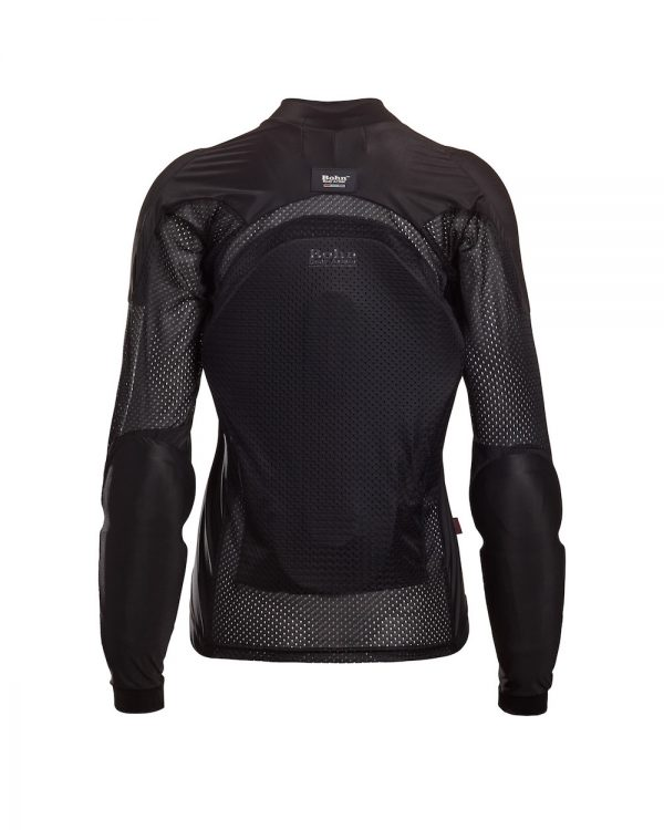 Bohn Body Armor All-Season Airtex Armored Motorcycle riding Shirt Black Back-Women