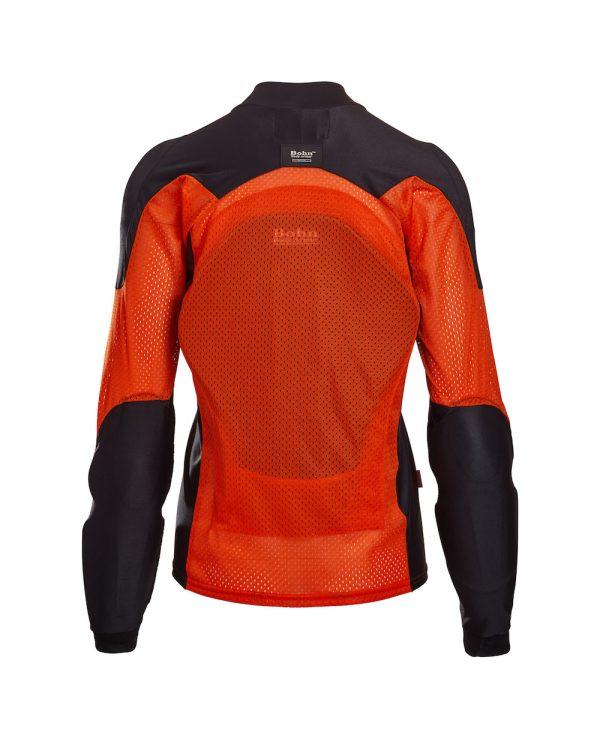 Bohn Body Armor All-Season Airtex Armored Motorcycle Riding Shirt Orange Back-Women