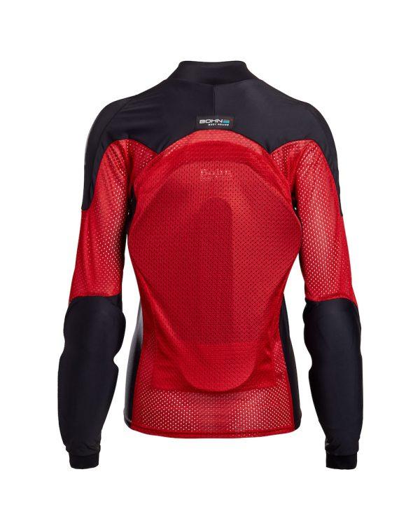 Bohn Body Armor All-Season Airtex Armored Motorcycle Riding Shirt Red Back-Women