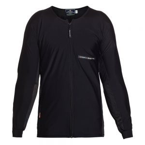 Bohn Body Armor Adventure Motorcycle Riding Shirt Black-Front
