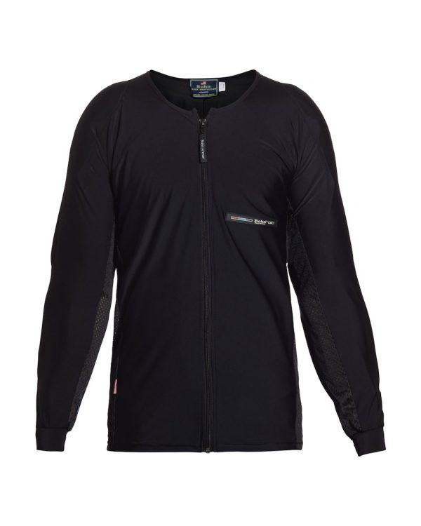 Bohn Body Armor Adventure Motorcycle Riding Shirt Black-Front