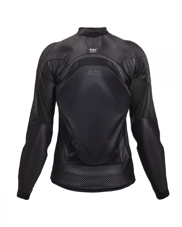 Bohn Body Armor All Season Airtex Armored Motorcycle Riding Shirt Black-Back
