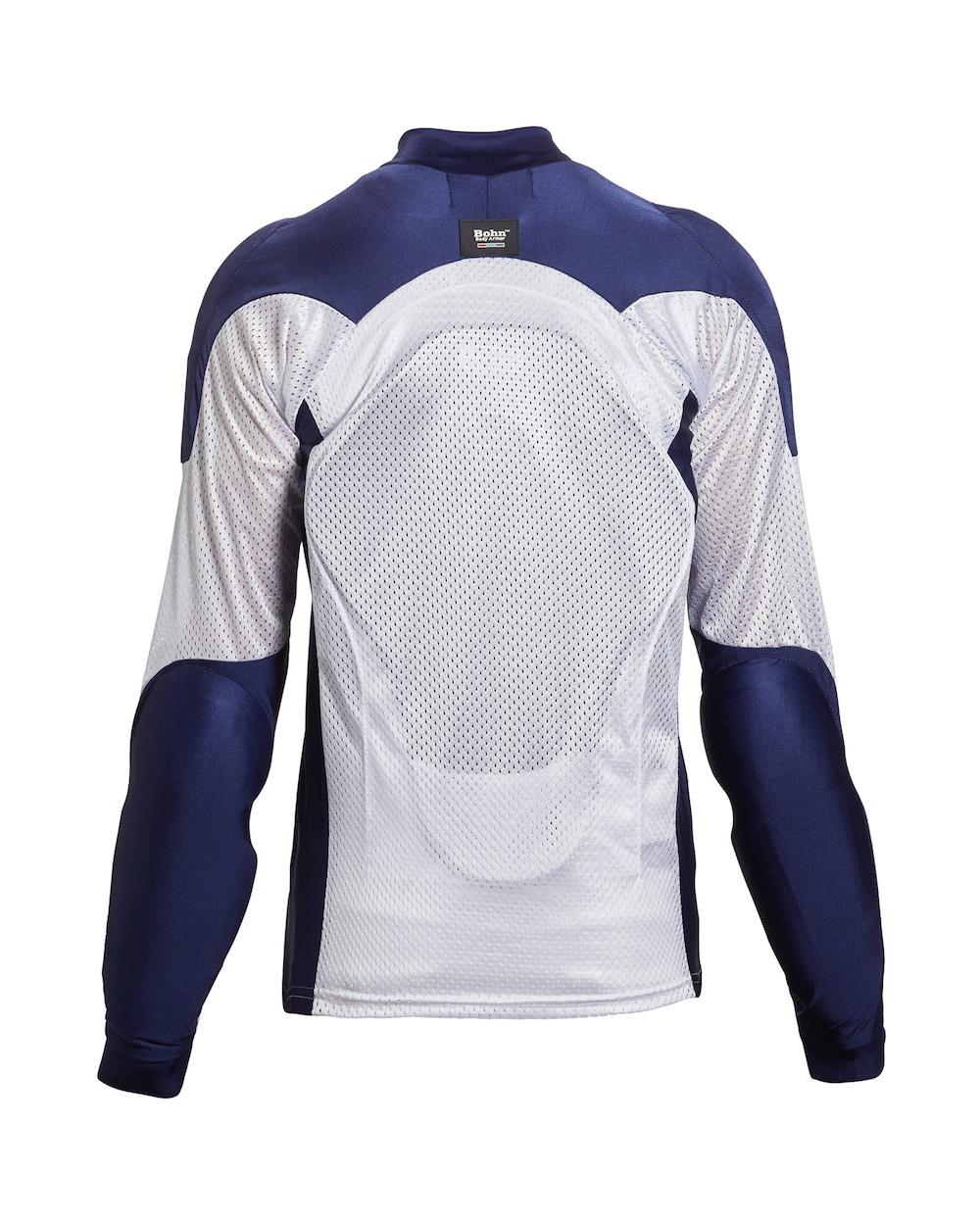 778d02413e5 All-Season Airtex Armored Riding Shirt - Blue + White