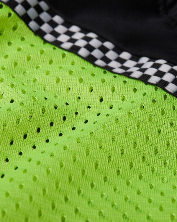 Bohn Body Armor All Season Airtex motorcycle Riding Shirt High-Visibility Yellow Fabric Swatch