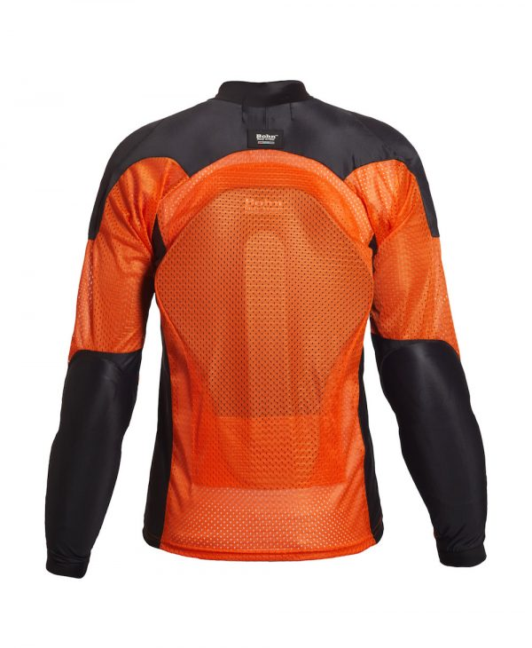 Bohn Body Armor All Season Airtex Armored Motorcycle Riding Shirt Orange-Back