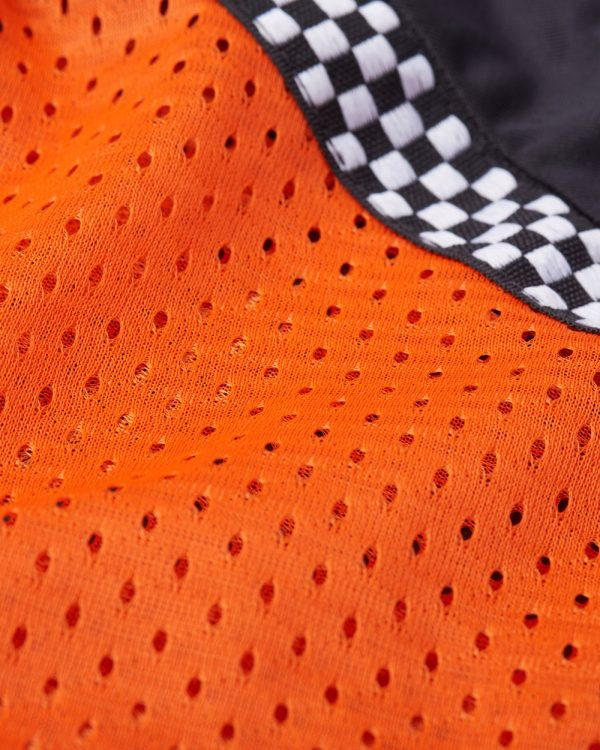All-Season Airtex Shirt Orange Fabric Swatch