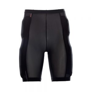 Bohn Body Armor Cool-Air Mesh Riding Shorts Black Front