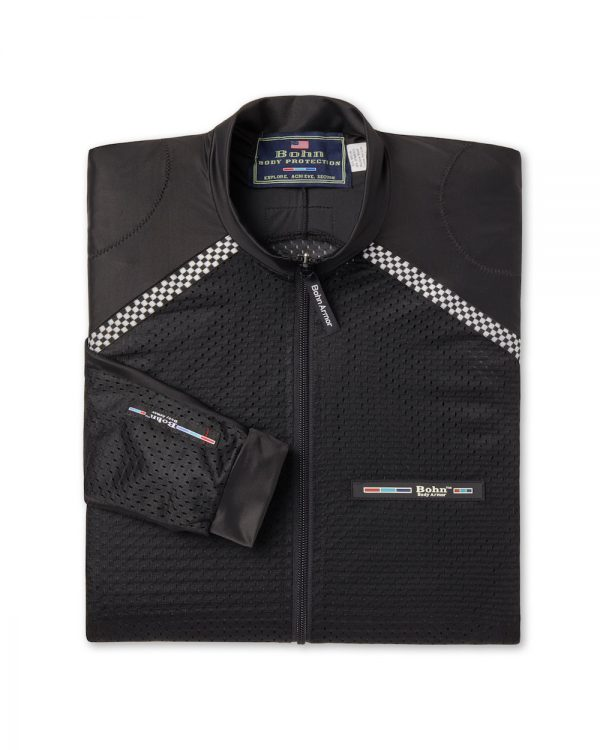 All-Season Airtex Motorcycle Riding Shirt Shell Black-Folded