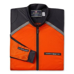 All-Season Airtex Motorcycle Riding Shirt Shell Orange-Folded