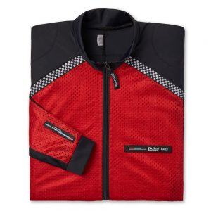 All-Season Airtex Motorcycle Riding Shirt Shell Red-Folded