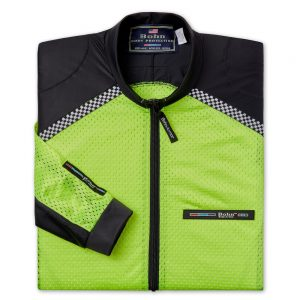 All-Season Airtex Motorcycle Riding Shirt Shell Yellow-Folded