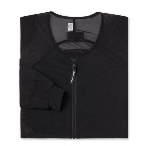 Cool-Air Mesh Motorcycle Riding Shirt Shell Black-Folded