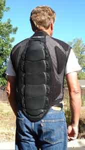 Bohn Armor Defender Motorcycle Back Protector Vest Back Black