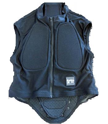 Bohn Armor Defender Motorcycle Back Protector Vest Front Black
