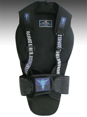 Bohn Armor Tribal Motorcycle Back Protector front side closeout