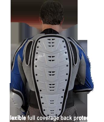 Bohn Body Armor Dakar Heavy-Duty Armored Motorcycle Shirt-Back