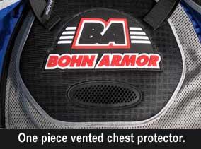 Bohn Body Armor Dakar Heavy-Duty Armored Motorcycle Shirt-Chest Armor