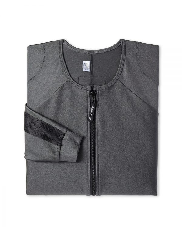 Performance-Thermal Motorcycle Riding Shirt Shell Slate Gray-Folded