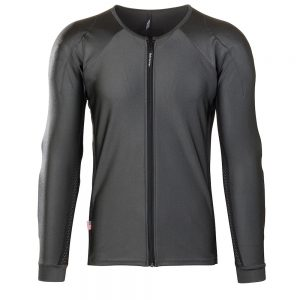 Bohn Body Armor Performance-Thermal Armored Motorcycle Riding Shirt Slate Gray Front