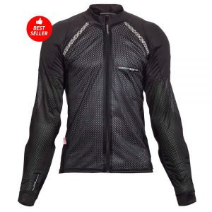 All-Season Airtex Armored Riding Shirt – Black