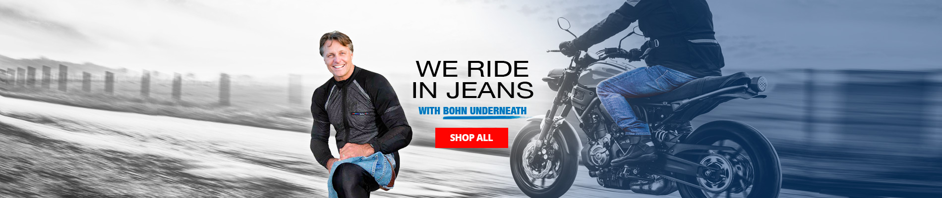 We ride in jeans graphic