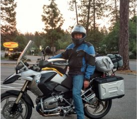 Brad Johnson rides with Armored Pants to Alaska