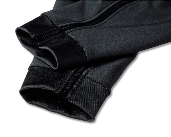 black adventure riding pants ankle view with zippers