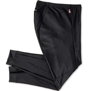 black adventure riding pants folded