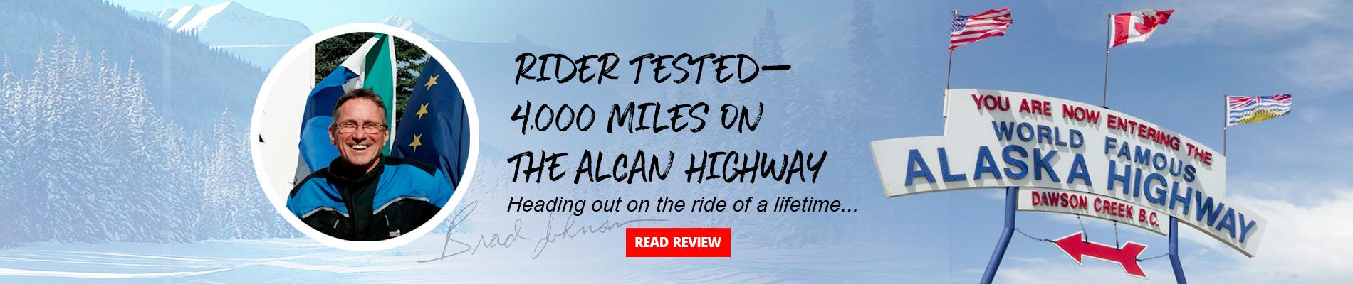 Bohn Body Armor pants on a ride to Alaska over 4000 miles