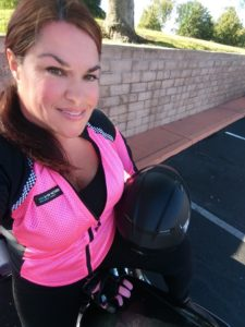 Bohn Customer wearing the Pink All-Season Airtex Armored Motorcycle Shirt