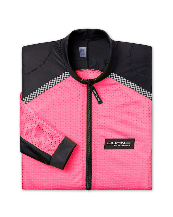 All-Season Airtex Armored Riding Shirt on Pink folded