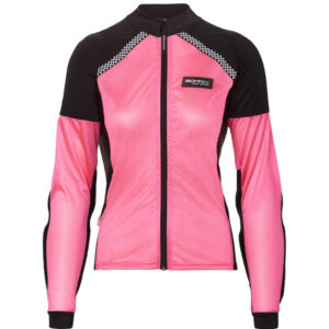 Front View of Bohn Body Armor - All-Season Airtex Pink Armored riding shirt