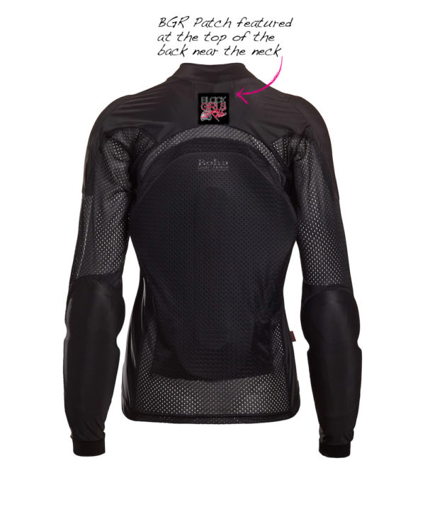 Black Girls Ride - All-Season Airtex Shirt in all Black - Comfortable Riding Shirt