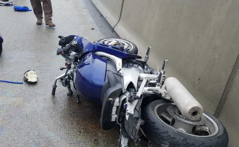 Image of Motorcycle Crash from a Bohn Body Armor Customer - picture of bike