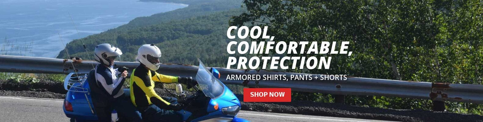 Slider Image for our Cool, Comfortable Armored Protection from Bohn Body Armor - Motorcycle Gear for Riding in the Heat