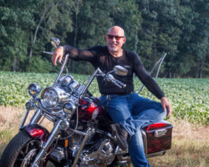 Bill Wearing Bohn Armor cool-Air Armored Motorcycle Shirt and Motorcycle Pants for Hot and Humid Riding