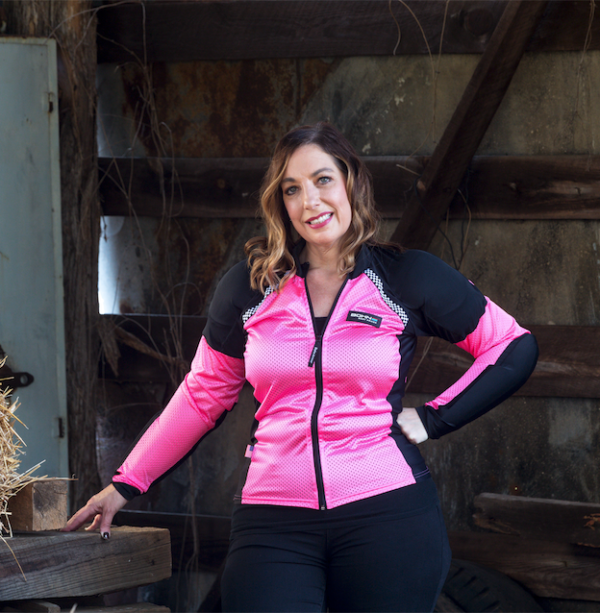 Women's All-Season Airtex Pink Motorcycle Riding Shirt