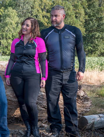 Bohn Body Armor Customers wearing the Black and Pink Bohn Body Armor Customers wearing the Black and Pink and the all Black Airtex All-Season Shirtand the all Black Airtex All-Season Shirt
