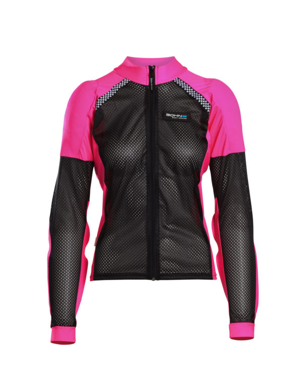 All-Season Women's Armored Riding Shirt Pink and Black