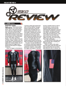 Bohn Body Armor Review - Christian Motorcycle Association