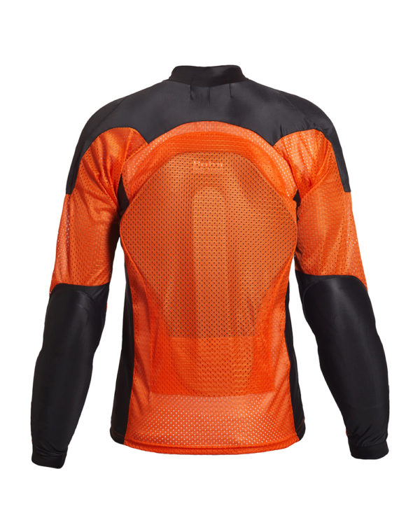 BOHN BODY ARMOR - ARMORED RIDING SHIRT - AIRTEX-ORANGE-BLACK-BACK