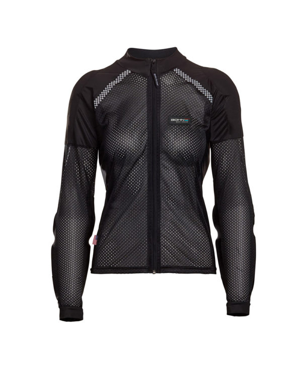 BOHN-BODY-ARMOR-ARMORED RIDING SHIRT - BLACK WOMENS FRONT