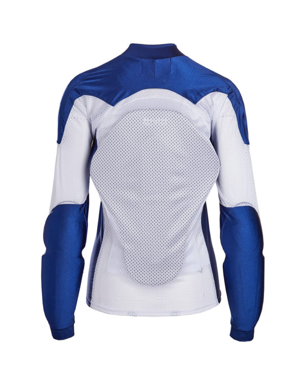BOHN-BODY-ARMOR-ARMORED RIDING SHIRT - BLUE AND WHITE WOMENS BACK