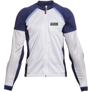 BOHN BODY ARMOR - ARMORED RIDING SHIRT - BLUE-WHITE-FRONT