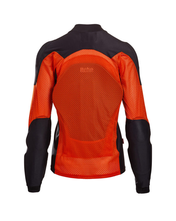 BOHN-BODY-ARMOR-ARMORED RIDING SHIRT - ORANGE - WOMENS BACK