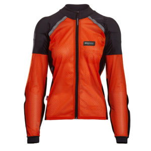 BOHN-BODY-ARMOR-ARMORED RIDING SHIRT - ORANGE WOMENS FRONT